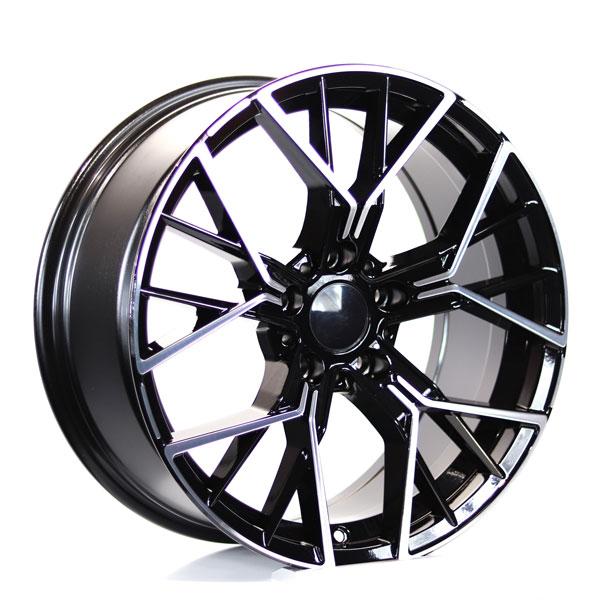 REBLICA BMW 8.0-18 520 ET30 718 72.6 Black Diamond